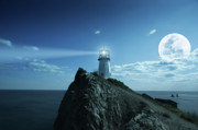 Reverse Photos - Lighthouse by MotHaiBaPhoto Prints