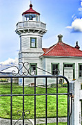 Wa.washington Framed Prints - Lighthouse Mukilteo WA Framed Print by DMSprouse Art