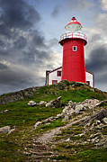 Newfoundland Prints - Lighthouse on hill Print by Elena Elisseeva