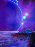 Plane Paintings - Lighthouse on The Galactic Plane by Earl Jackson