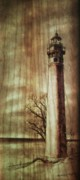 Lighthouse Pyrography Posters - Lighthouse On The Lake Poster by Freddy  Smith