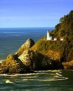 Marty Koch Art - Lighthouse on the Oregon Coast by Marty Koch