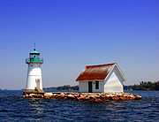 Help Prints - Lighthouse on the St Lawrence River Print by Olivier Le Queinec