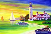 East Coast Lighthouse Paintings - Lighthouse by Patrick Parker