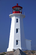 Canada Photo Metal Prints - Lighthouse Peggys cove Metal Print by Garry Gay