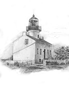 Nautical Print Drawings - Lighthouse by Scott Parker