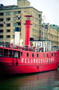 Helsinki Finland Prints - Lighthouse Ship Print by Andy Smy
