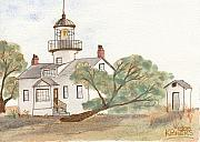 Lighthouse Painting Originals - Lighthouse Sketch by Ken Powers