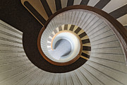 Spiral Staircase Photos - Lighthouse Steps at Point Loma by Jeremy Woodhouse