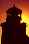 New England Lighthouse Photo Posters - Lighthouse Sunset Poster by Joann Vitali