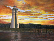 Judy Merrell - Lighthouse Sunset
