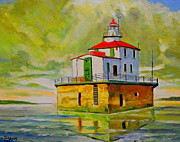 Great Painting Originals - Lighthouse by Thomas MACMILLAN