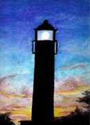 Lighthouse Pastels - Lighthouse Two by Garrett Wright