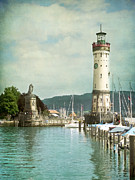 Lindau Framed Prints - Lighthouse Framed Print by Viaina