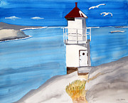 Lighthouse Sea Prints - Lighthouse West Coast Sweden Print by Eva Ason