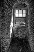 Georgia Photos - Lighthouse Window  Black and White by Peter Tellone