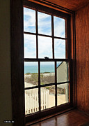 Window Panes Framed Prints - Lighthouse Window Framed Print by Methune Hively