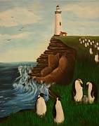 Erin Nessler - Lighthouse with Penguins