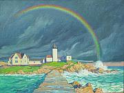 Anton Kamp - Lighthouse With Rainbow