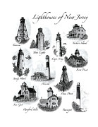 Finns Posters - Lighthouses of New Jersey Poster by Greg DiNapoli
