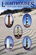 Harkers Island Photos - Lighthouses of the Outer Banks by Tony Cooper
