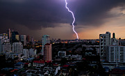 Bangkok Prints - Lightning Print by Adrian Callan Photography