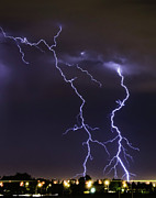 Power In Nature Prints - Lightning Print by Ardeona Photography - Steve Osborne (photographer)