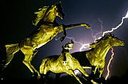 Nature Art - Lightning At Horse World Fine Art Print by James Bo Insogna