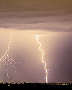 Rustic Photos - Lightning Bolt With a Fork by James Bo Insogna
