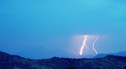 Lightning Bolt Pictures Prints - Lightning Bolts Hitting the Continental Divide Crop Print by James Bo Insogna