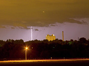Loveland Photo Prints - Lightning Bolts Striking in Loveland Colorado Print by James Bo Insogna