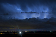 Timed Exposure Prints - Lightning Cloud Burst Print by James Bo Insogna