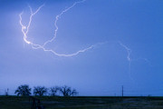 Lightning Weather Stock Images Framed Prints - Lightning Crawler Framed Print by James Bo Insogna