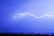Lightning Weather Stock Images Art - Lightning Over North Boulder Colorado  IBM by James Bo Insogna