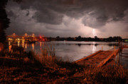 Lightning Photography Photos - Lightning over Sturgeon Bay by Jeremy Evensen
