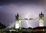 Power In Nature Prints - Lightning Over Tower Bridge, London Print by All images licensed by Craig Allen
