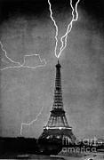 Science Source - Lightning Strikes Eiffel Tower, 1902