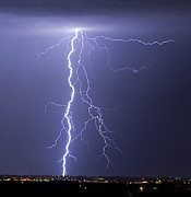 Thunderstorms Prints - Lightning Strikes Print by James Bo Insogna