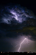 Photography Of Framed Pictures Prints - Lightning Thundehead Storm Rumble Print by James Bo Insogna