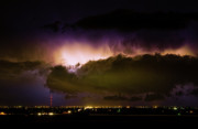 Lightning Bolt Pictures Prints - Lightning Thunderstorm Cloud Burst Print by James Bo Insogna