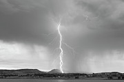 Images Lightning Prints - Lightning Twine Striking the Colorado Rocky Mountain Foothills B Print by James Bo Insogna