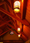 Wooden Building Prints - Lights and Beams Print by Steven Ainsworth