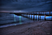 Lights At The End Of The Pier Print by E R Smith