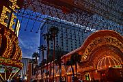 Fremont Street Prints - Lights in Down Town Las Vegas Print by Susanne Van Hulst