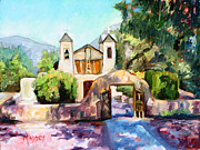 Adobe Painting Prints - Lights of Chimayo Print by Marie Massey