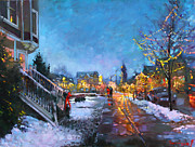 Ylli Haruni Prints - Lights on Elmwood Ave Print by Ylli Haruni