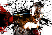Boxer Mixed Media Prints - Lights Out Print by The DigArtisT
