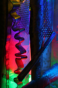 Hand Crafted Art - LightWaves2 Labyrinth detail  2061 by Fritz Ozuna