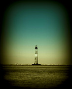 Lighthouse Art - Ligthhouse at Morris Island SC by Susanne Van Hulst