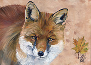 Fox Mixed Media - Like a Fox by J W Baker